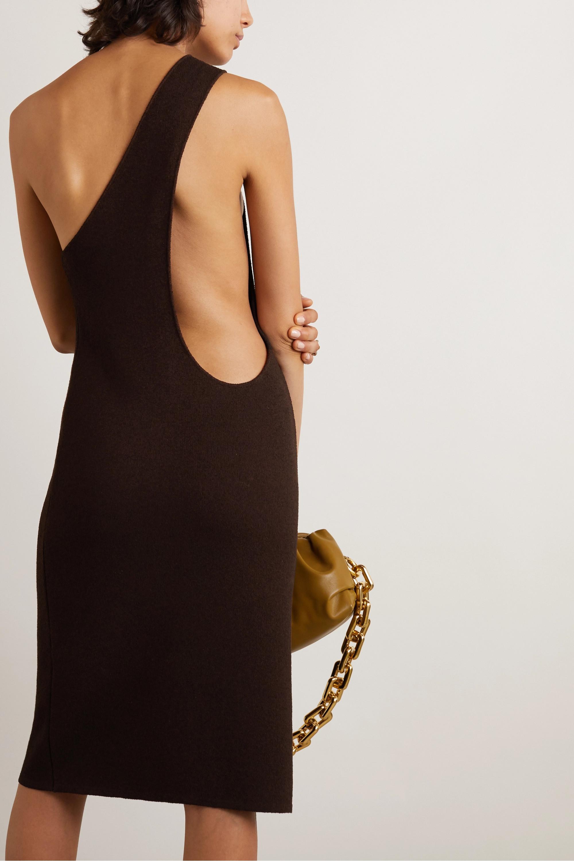 Bottega Veneta One-shoulder stretch-knit midi dress