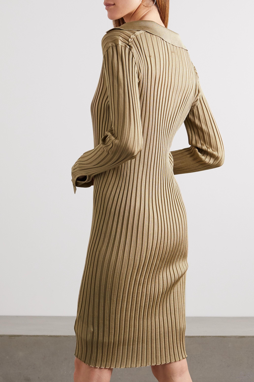 Bottega Veneta Ribbed silk dress