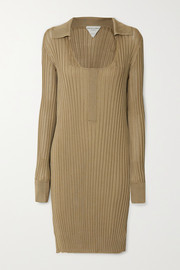 Bottega Veneta Ribbed silk dress