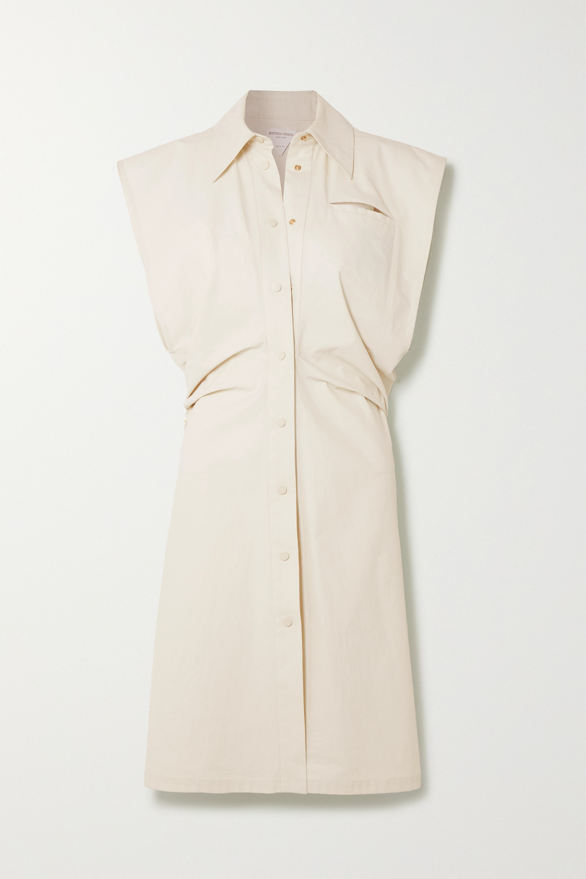 Bottega Veneta Coated cotton-blend shirt dress