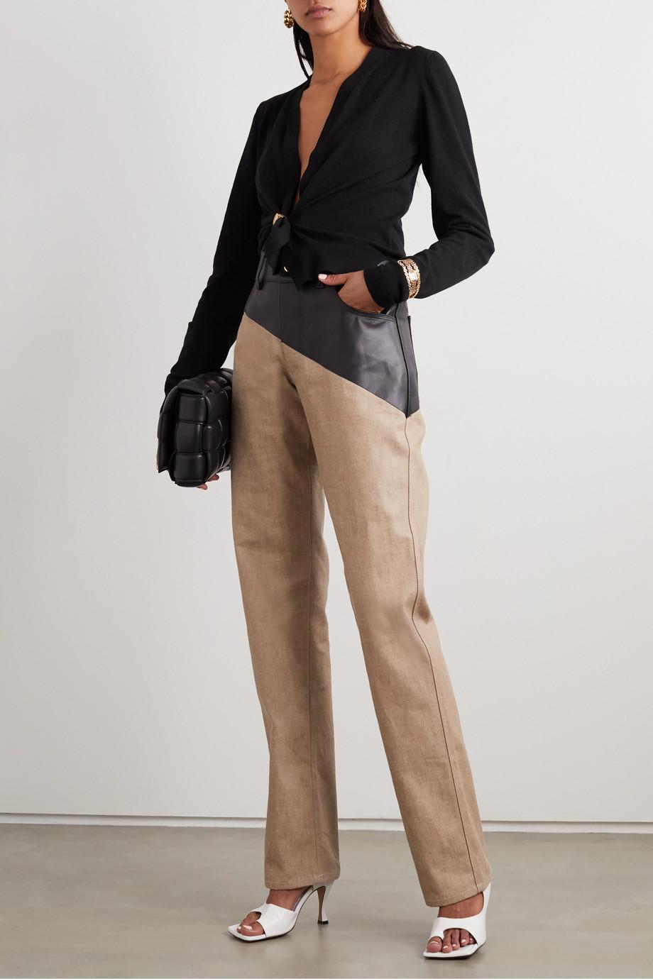 Bottega Veneta Cropped embellished cashmere-blend cardigan