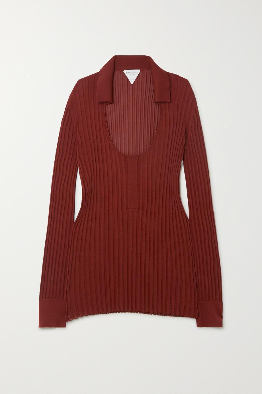 Bottega Veneta Ribbed silk-blend sweater