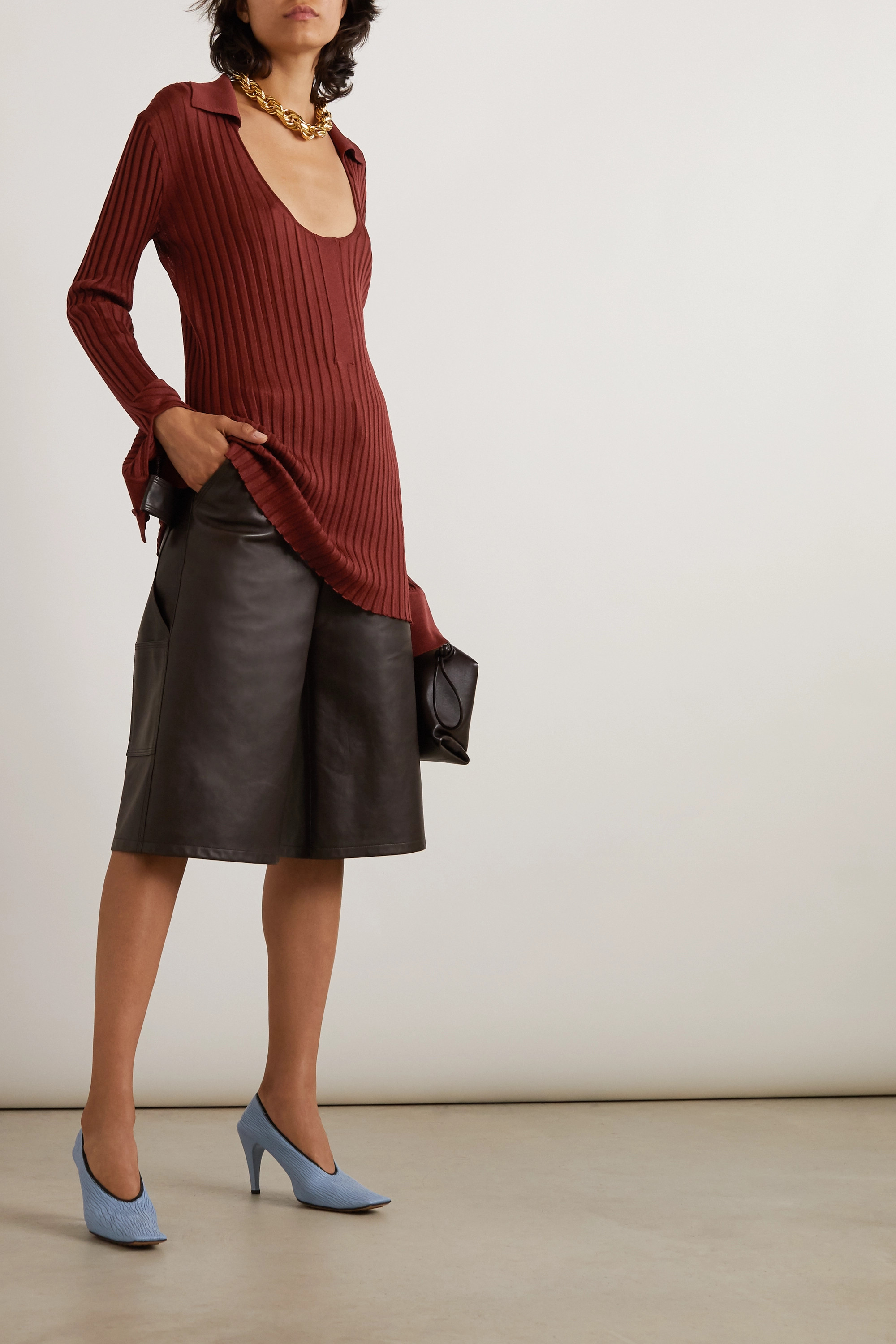 Bottega Veneta Ribbed silk-blend sweater