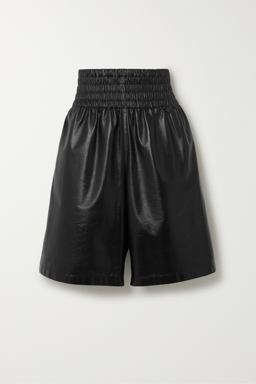 Bottega Veneta Shirred leather shorts