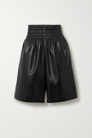 Bottega Veneta Shirred leather shorts