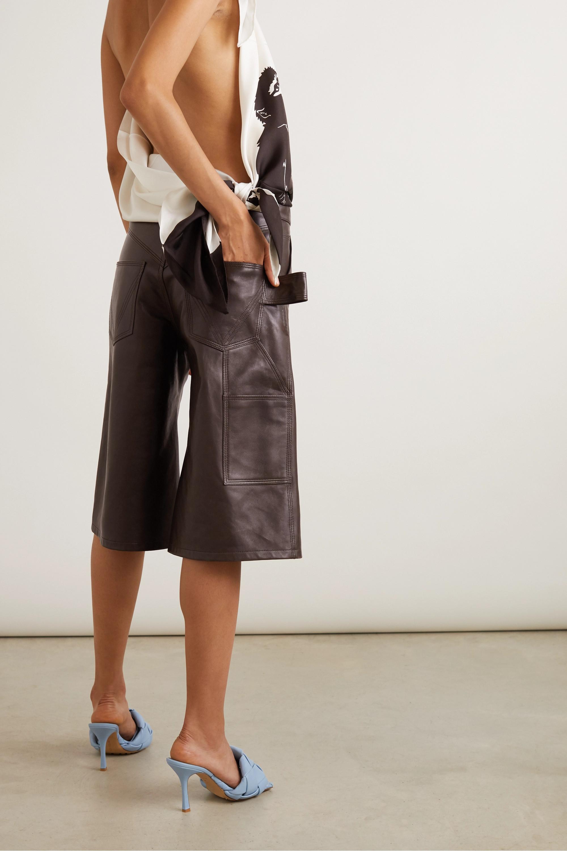 Bottega Veneta Embellished leather shorts
