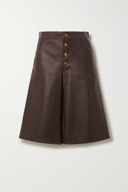 Bottega Veneta Embellished leather shorts