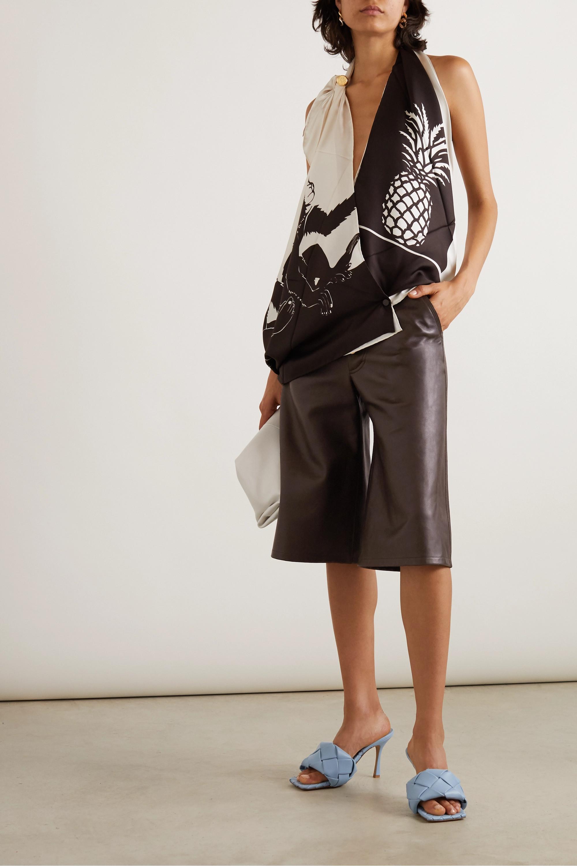 Bottega Veneta Shorts aus Leder mit Verzierungen