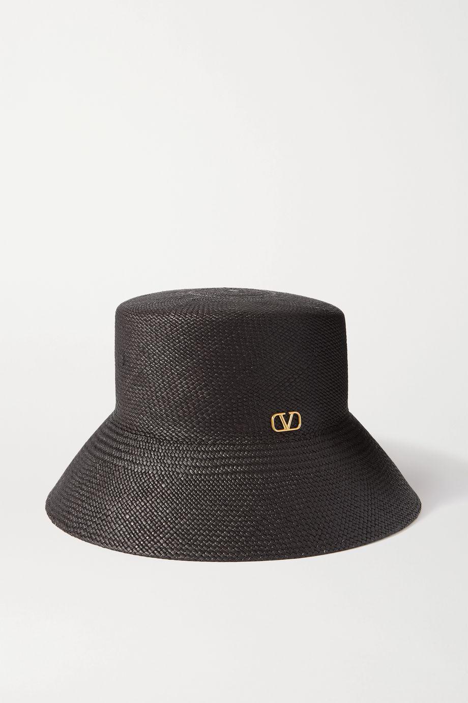 Valentino Valentino Garavani embellished straw hat