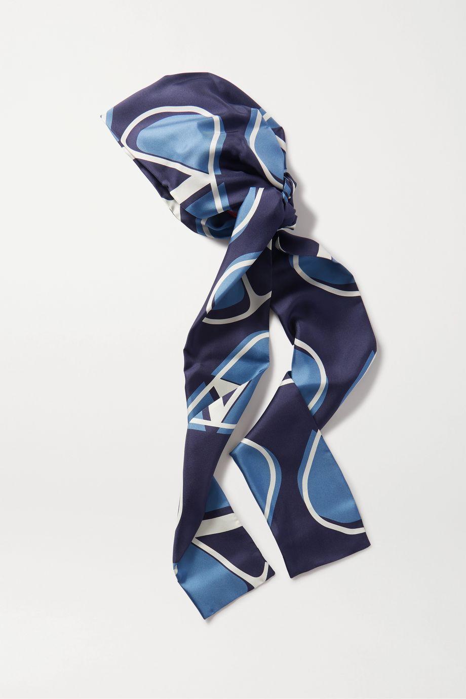 Valentino Printed silk-twill turban