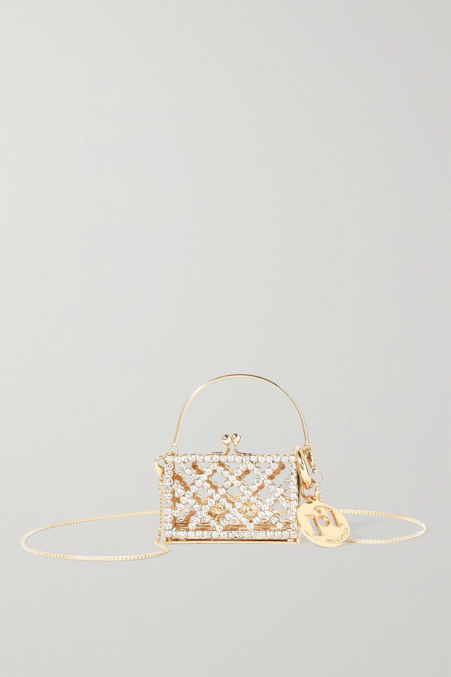 Rosantica Baby Garofano mini crystal-embellished gold-tone shoulder bag