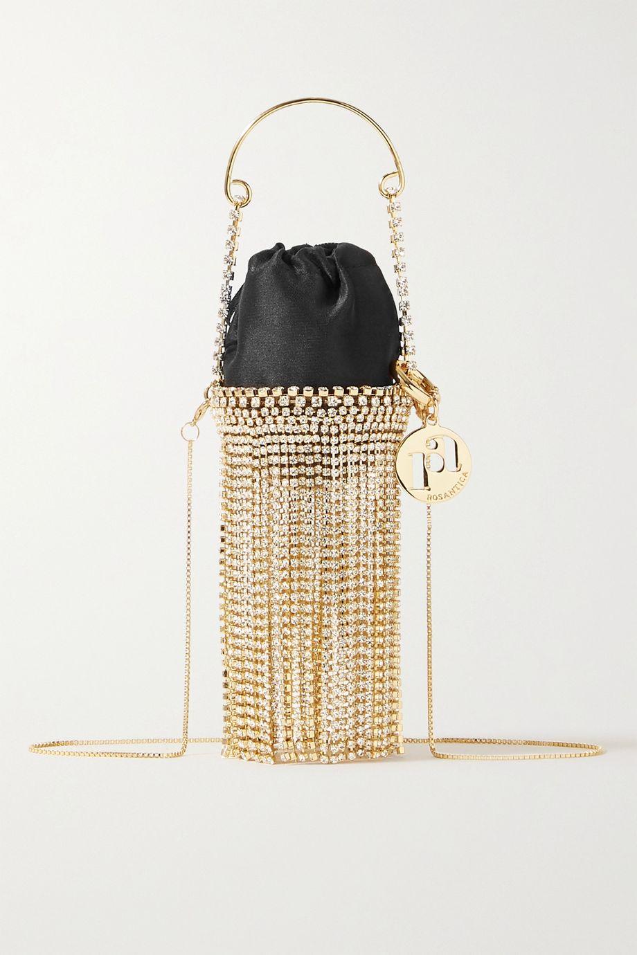 Rosantica Ghizlan Baby fringed embellished satin shoulder bag