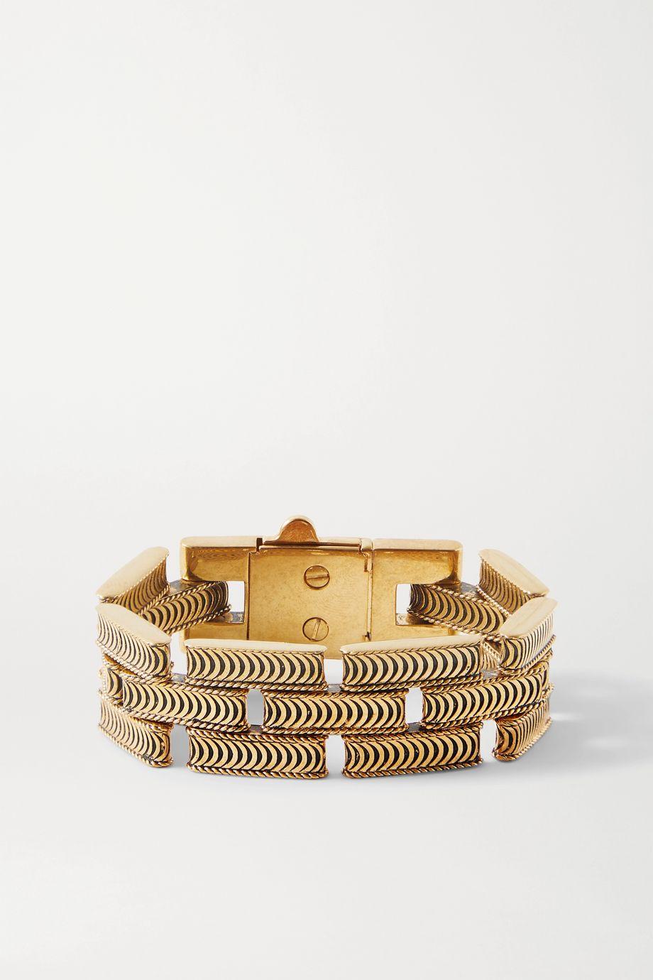SAINT LAURENT Gold-tone bracelet