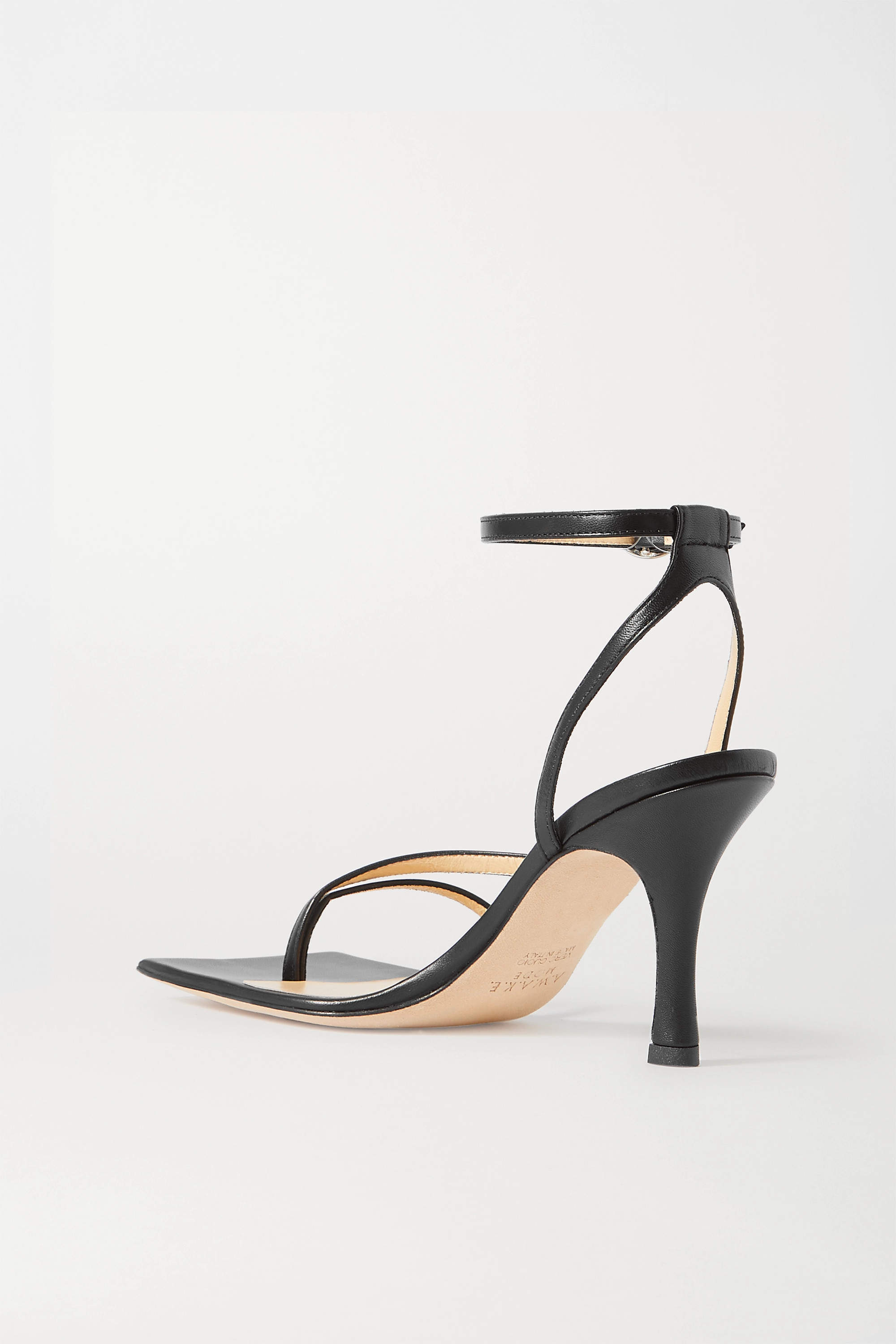 A.W.A.K.E. MODE Delta leather sandals