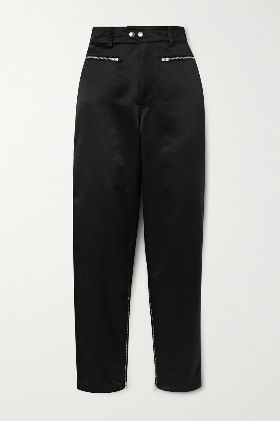Kwaidan Editions Zip-detailed satin tapered pants
