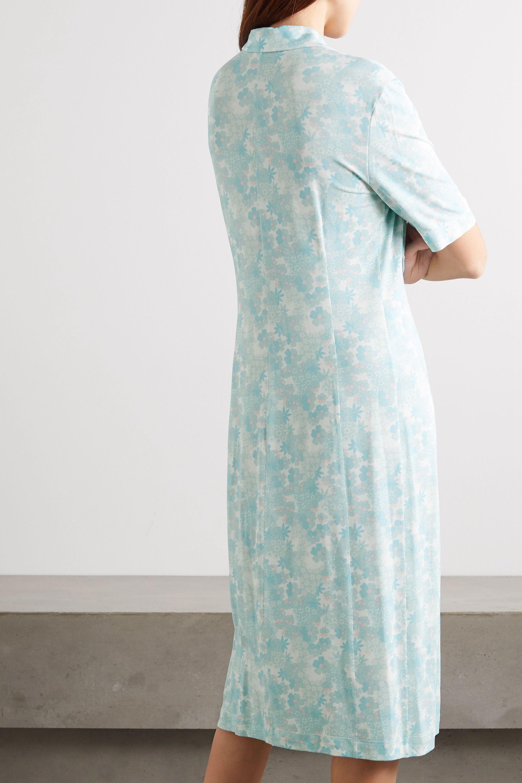 Kwaidan Editions Floral-print stretch-jersey midi shirt dress