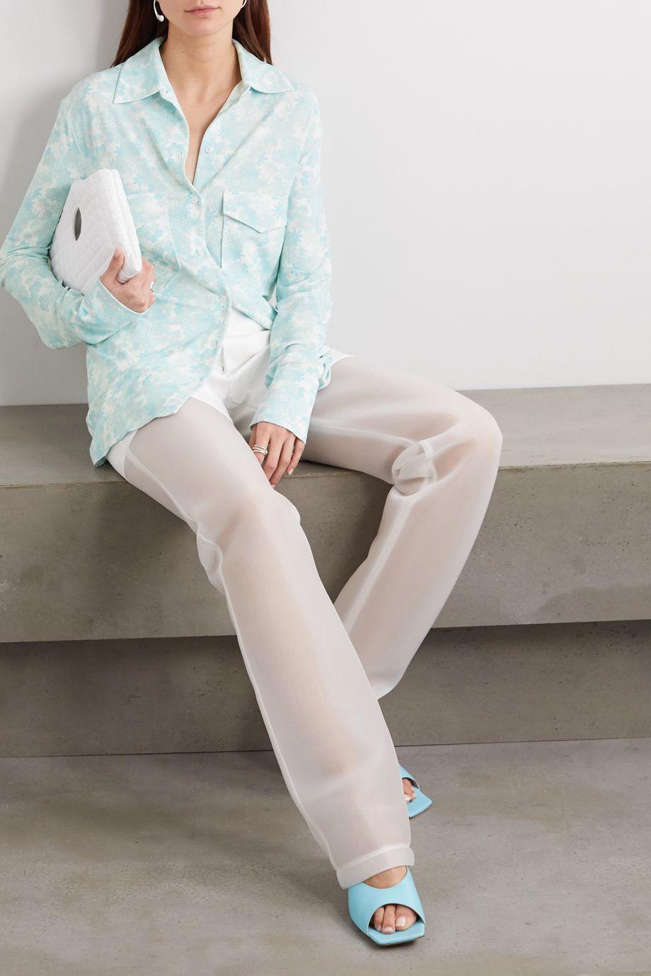 Kwaidan Editions Floral-print stretch-jersey shirt