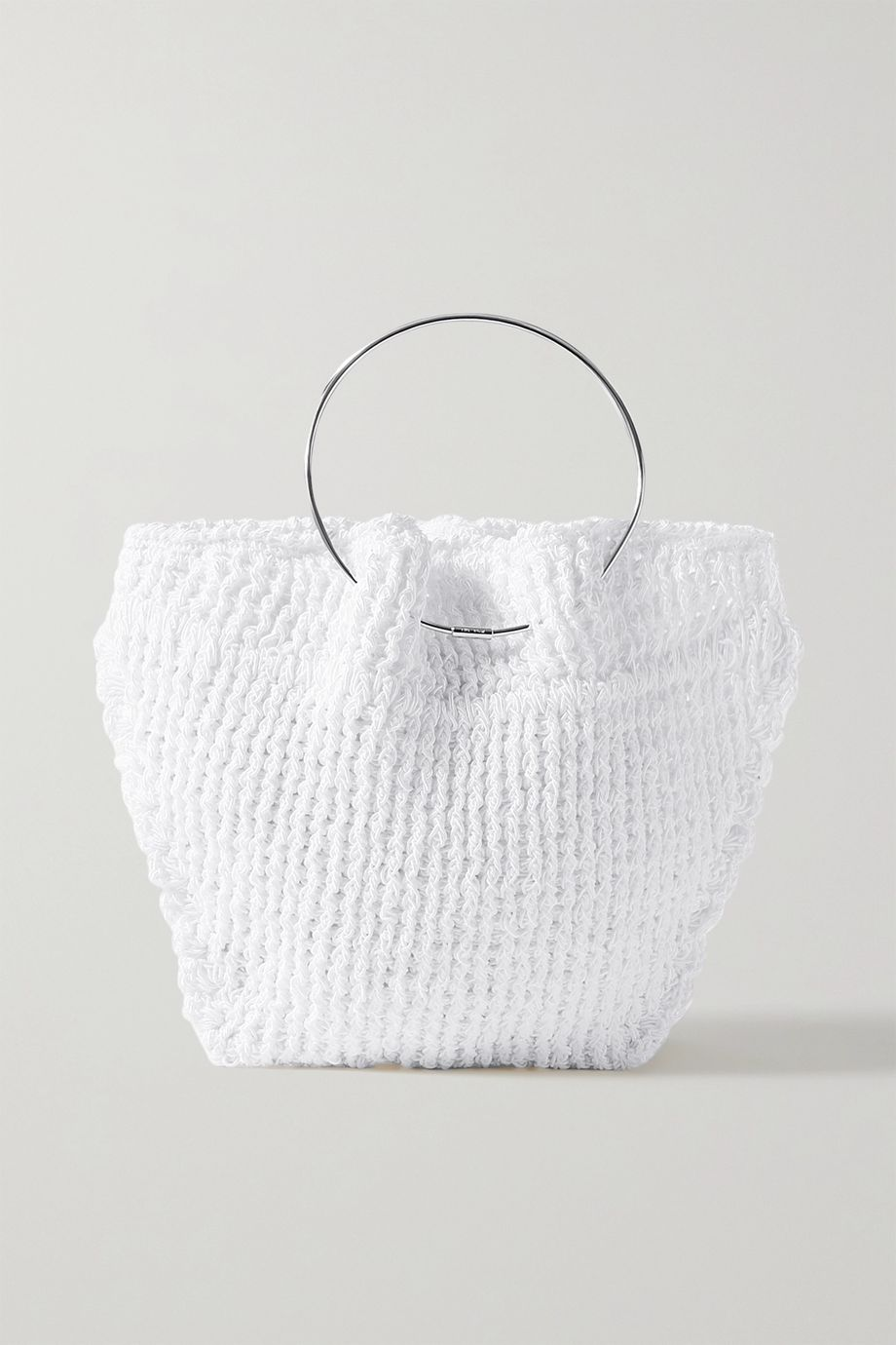 The Row Flat Circle crocheted cotton tote