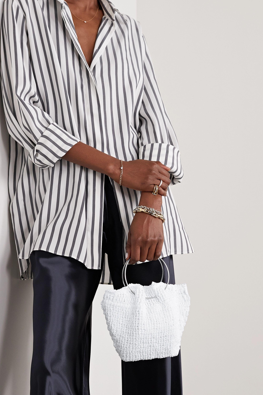 The Row Sac à main en coton crocheté Flat Circle