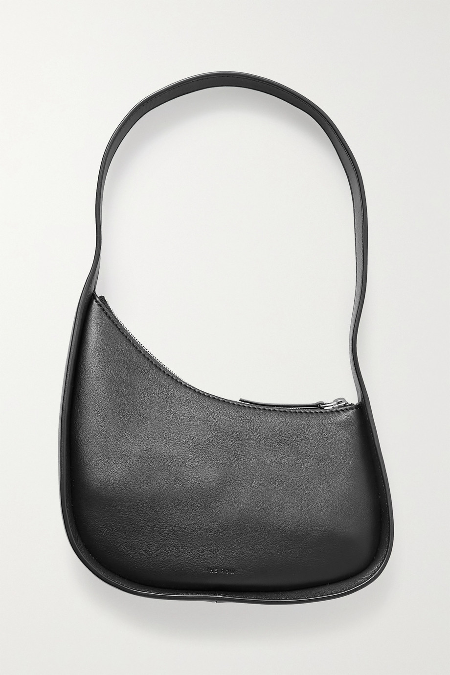 The Row Half Moon leather shoulder bag