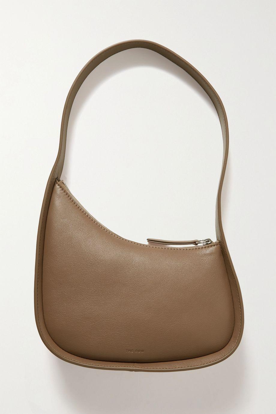 The Row Half Moon leather shoulder bag