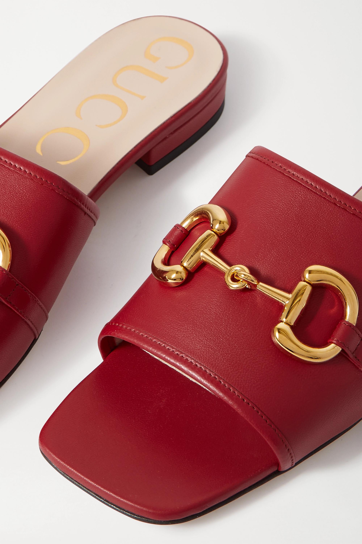 Gucci Deva horsebit-detailed leather slides