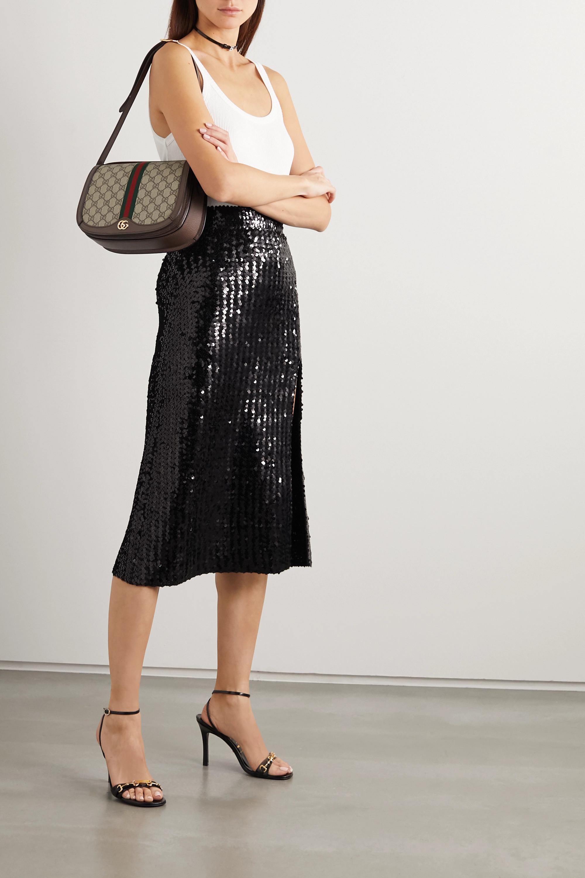 Gucci Moorea Sandalen aus Glanzleder mit Horsebit-Detail