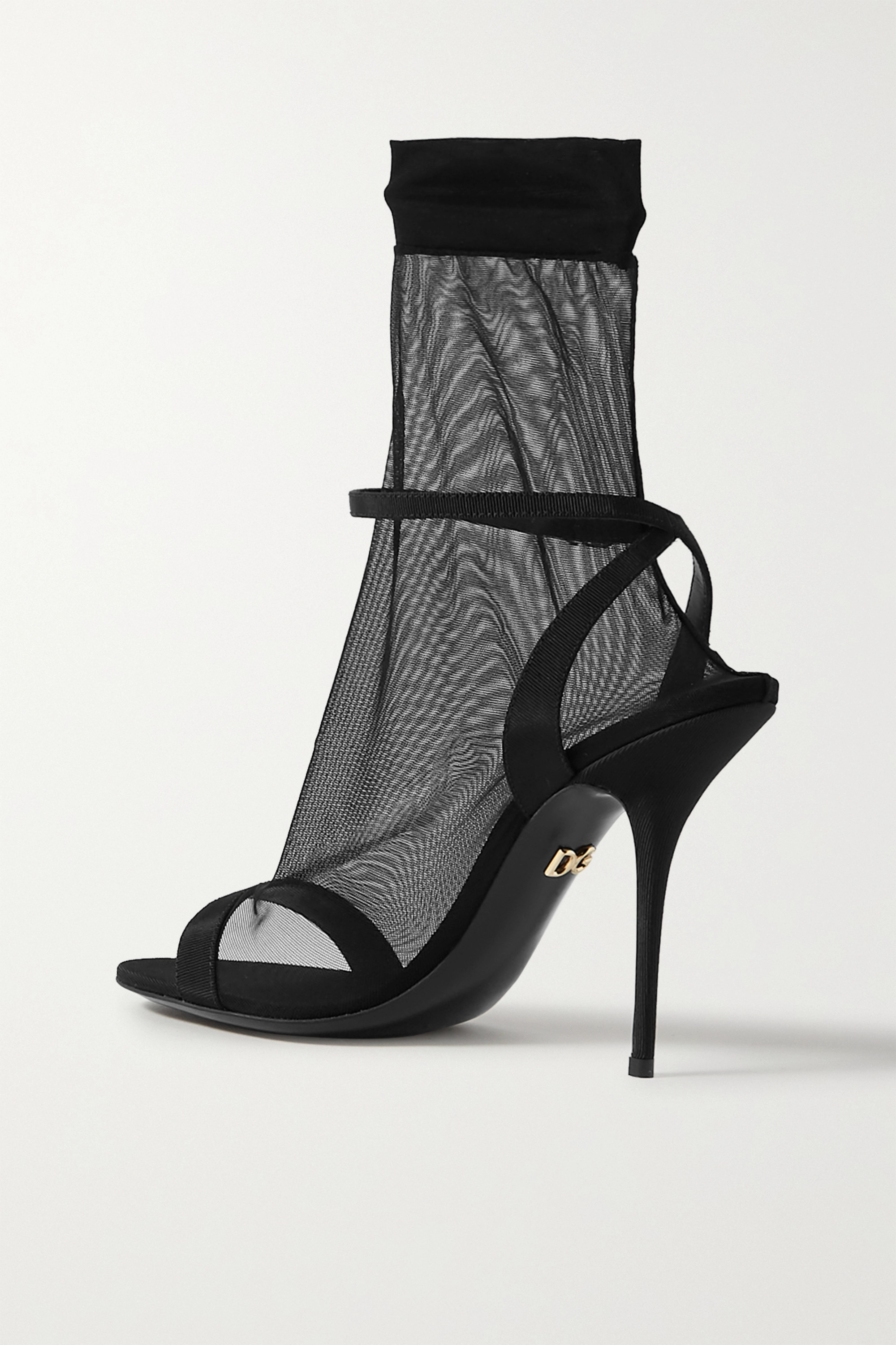 Dolce & Gabbana Tulle and grosgrain sandals
