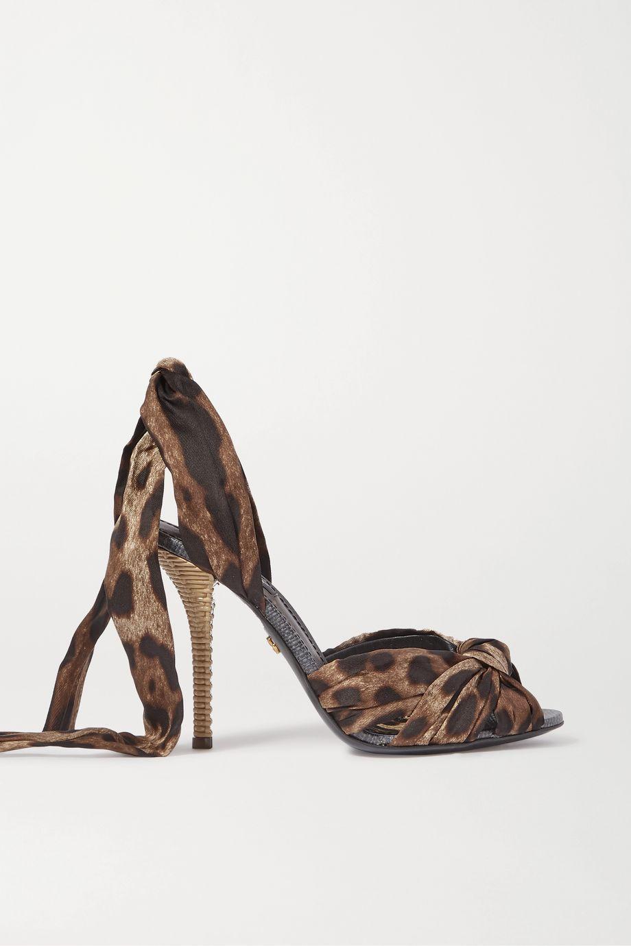Dolce & Gabbana Leopard-print twill sandals