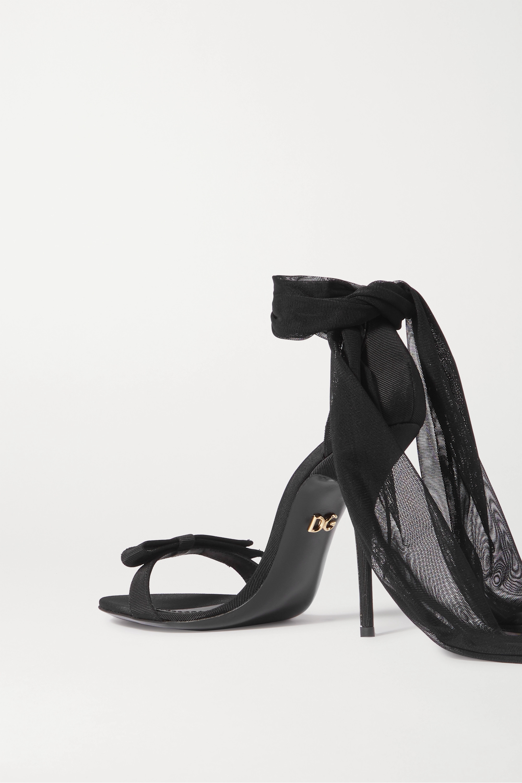Dolce & Gabbana Sandales en gros-grain et en tulle