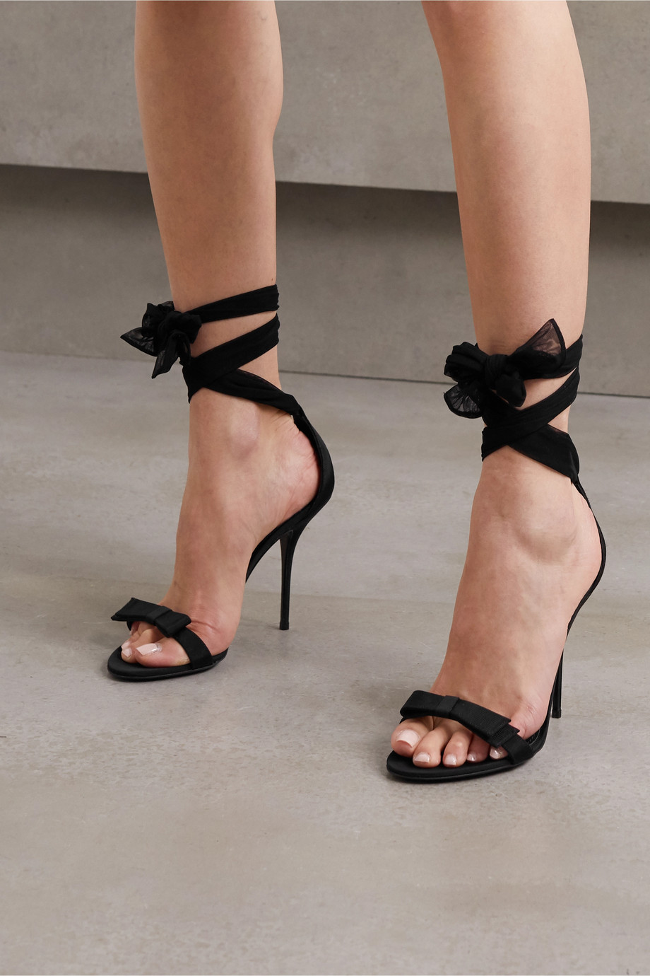 Dolce & Gabbana Grosgrain and tulle sandals