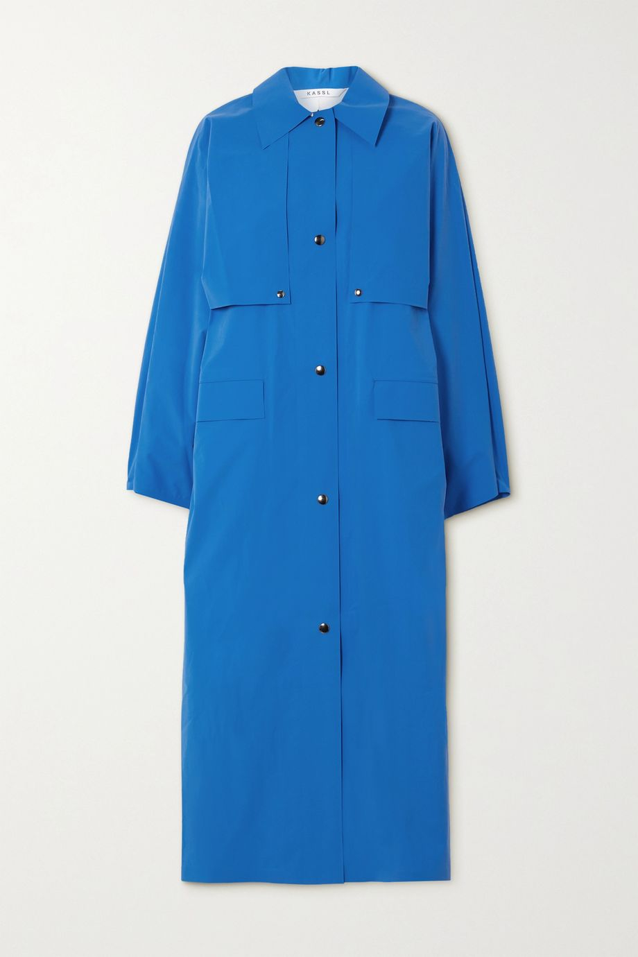 Kassl Editions Reversible convertible cotton-blend trench coat