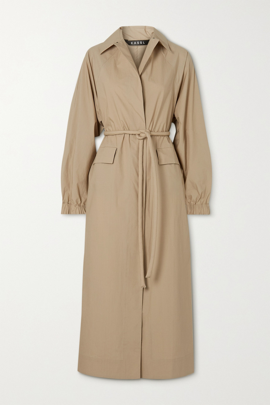 Kassl Editions Belted cotton trench coat