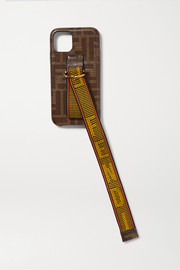 Fendi Canvas-trimmed printed textured-silicone iPhone 11 Pro case