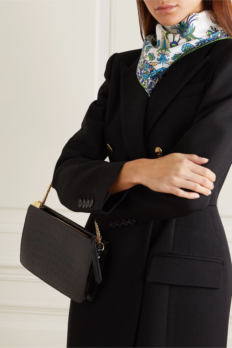 Givenchy Floral-print silk-twill scarf