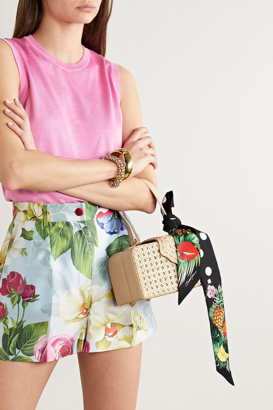 Dolce & Gabbana Foulard en serge de soie imprimée