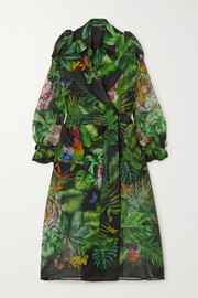 Dolce & Gabbana Oversized printed silk-organza trench coat