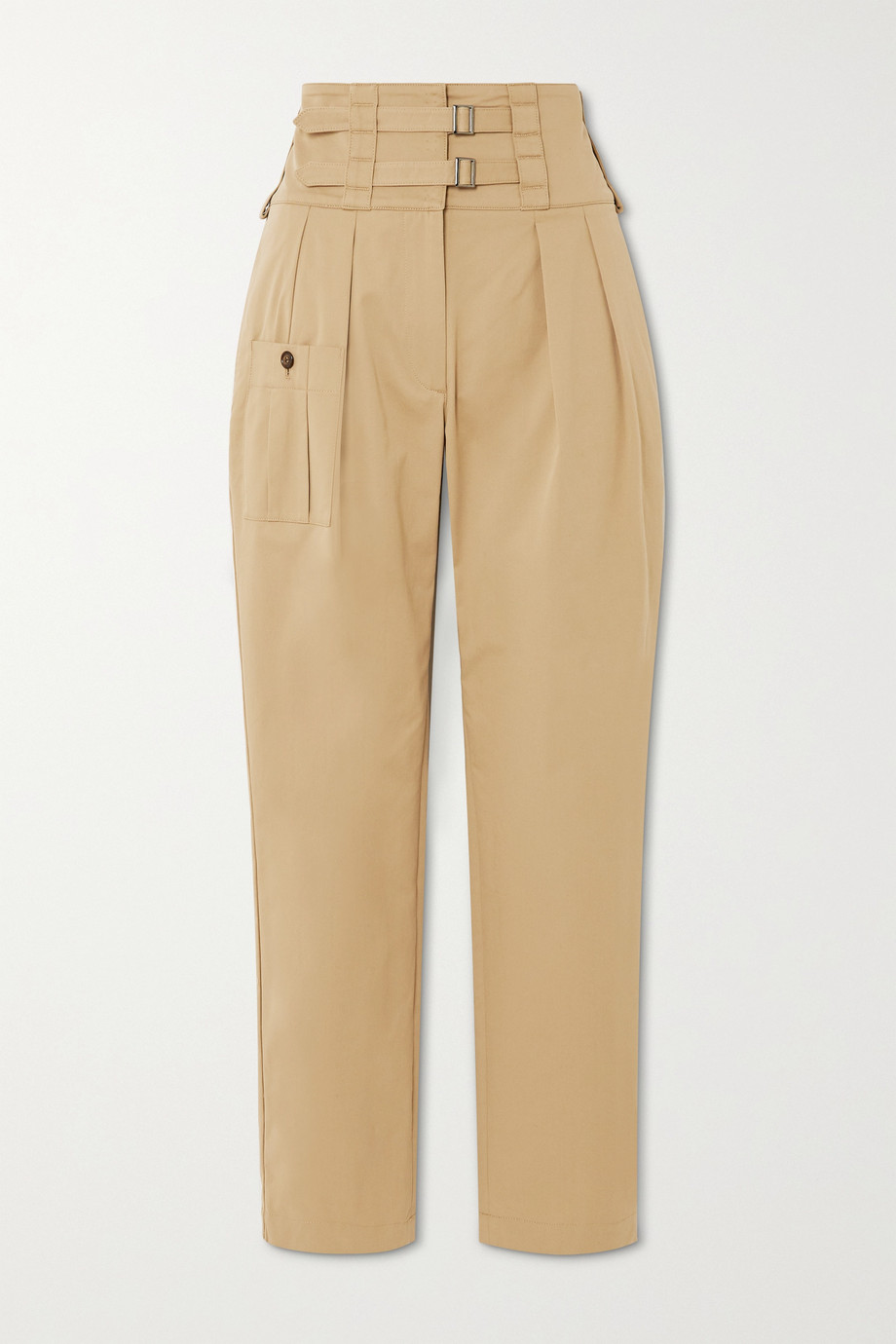 Dolce & Gabbana Buckled cotton-blend twill tapered pants