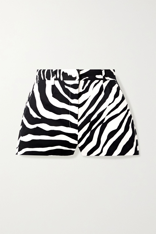 Dolce & Gabbana Zebra-print cotton-blend twill shorts