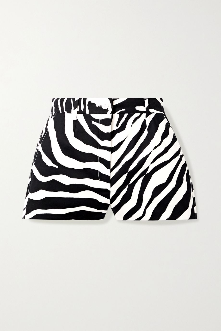 Dolce & Gabbana Zebra-print cotton-blend twill shorts