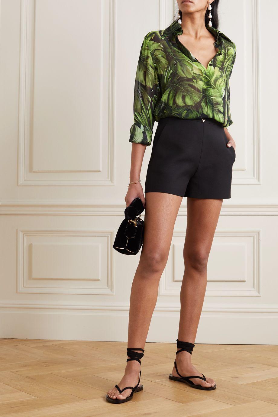 Dolce & Gabbana Printed silk-chiffon shirt