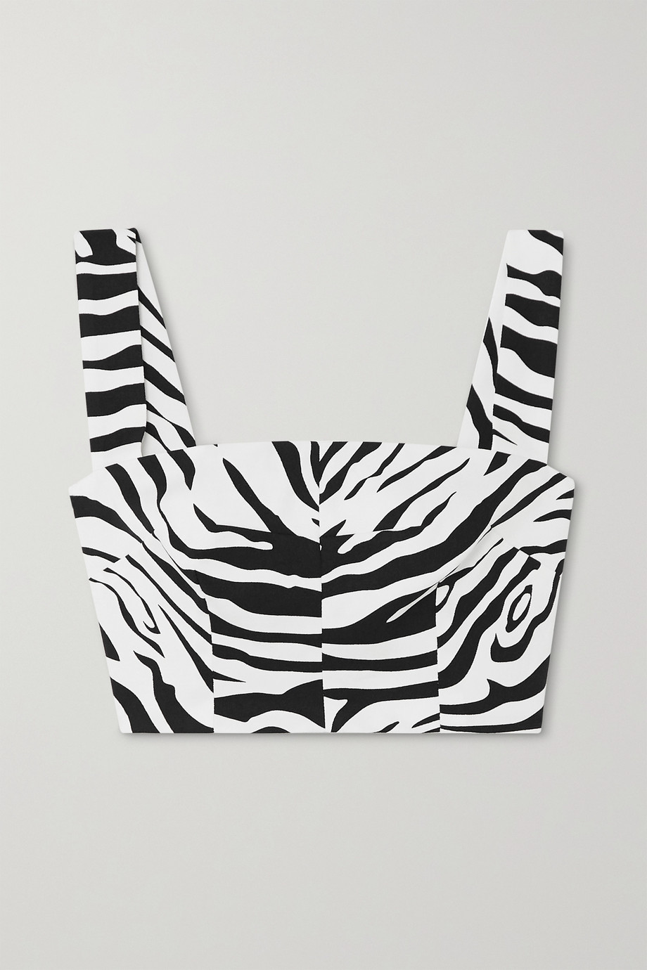 Dolce & Gabbana Cropped zebra-print cotton-blend top