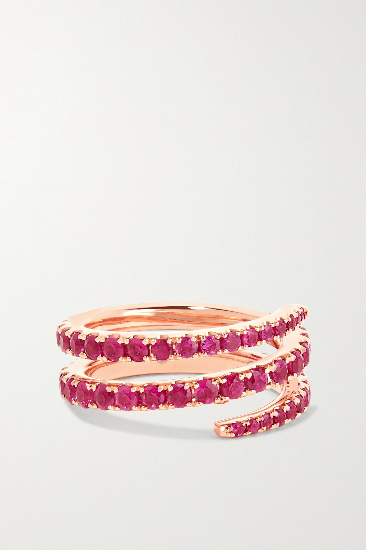 Rose Gold 18-karat Ruby Pinky Ring | Anita Ko