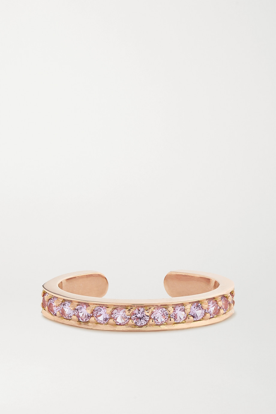 Anita Ko 18-karat rose gold sapphire ear cuff