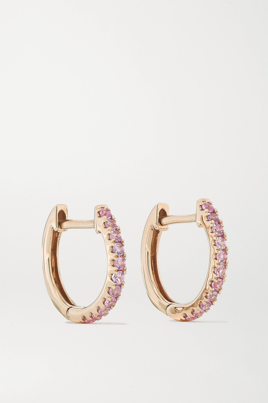 Anita Ko Huggies 18-karat rose gold sapphire earrings