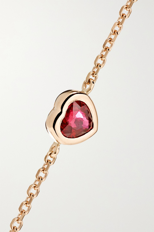 Anita Ko 18-karat rose gold ruby bracelet