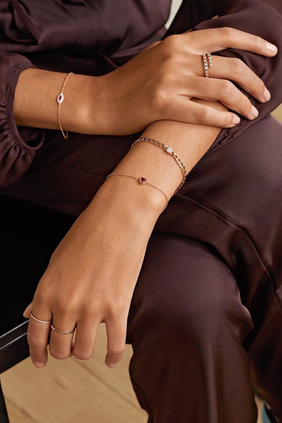 Anita Ko Bracelet en or rose 18 carats et rubis