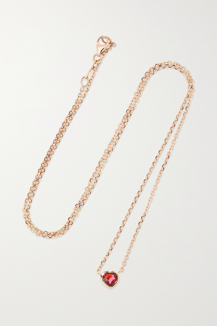 Anita Ko 18-karat rose gold ruby necklace