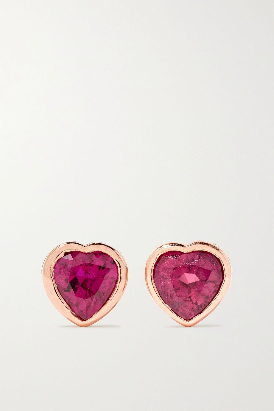 Anita Ko 18-karat rose gold ruby earrings