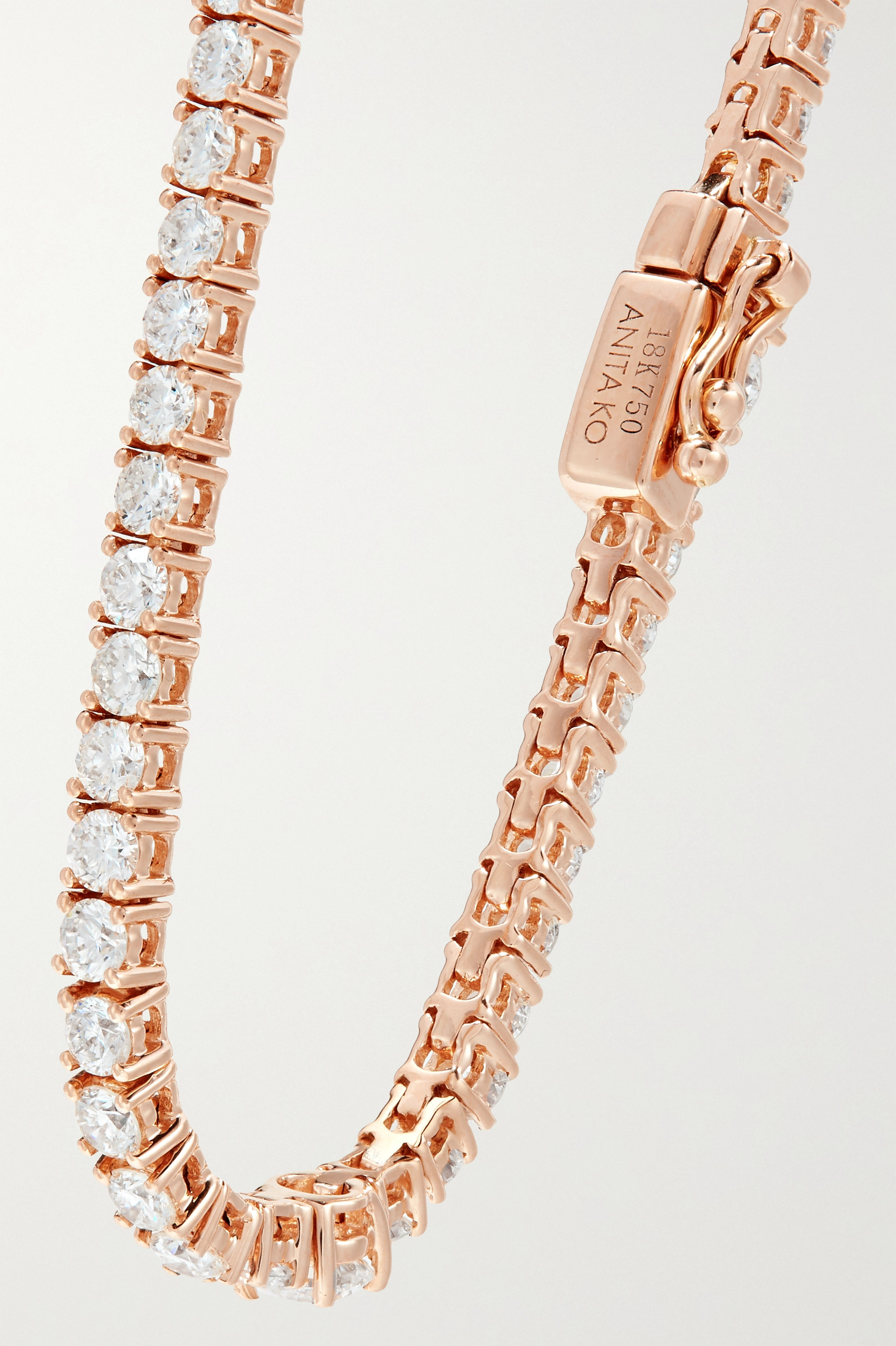 Anita Ko Collins 18-karat rose gold diamond choker
